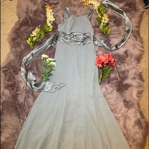 David's Bridal Bridesmaid dress Grey